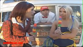 Icecream truck cheerleader and...