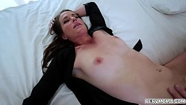 Stepmom wakes up hungry for more cock ans so she slips into stepsons room!