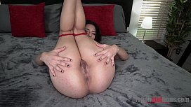 Sexy Latina Gabriela Lopez Spreads And Gaps Her Holes Open