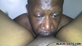 Black mature couple oral...