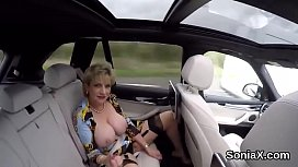 Adulterous british milf lady sonia presents her giant boobies