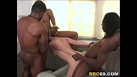 Rough Interracial Anal Gangbang...