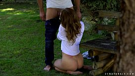 Hot outdoor sex - Kira...