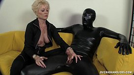 Dominant Granny Dominates Her Slave xxx video