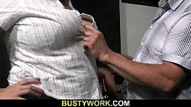 Fatty rides cock after...