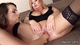 Frisky czech cutie stretches her narrow pussy to the unusual