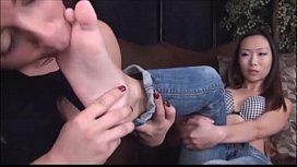 Asian lesbian foot fetish...
