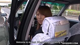 Taxi driver Asian babe fucked in the taxi ride