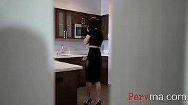 Brunette Italian Mom Caught s. Sneaking In &amp_ Punished Him- Crystal Rush