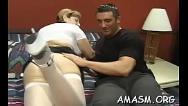 Home video with woman facesitting fellow in perverted modes