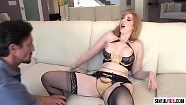 Hot redhead milf Lauren Phillips licked and fucked by experienced fucker Tommy Gunn