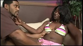 Lusty muscular fellow bangs ebony cutie Cookie with curvaceous figure