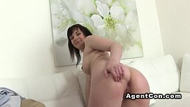 Fake agent gives creampie...