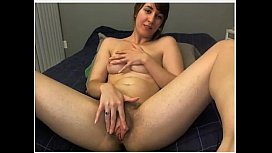 Hairy Girl Plays with Dildo Doggystyle Pulls Pussy Lips Hairy Legs and Ass
