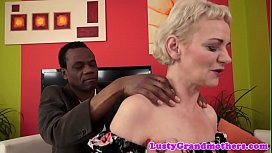Euro grandma gets hairy pussy drilled by bbc