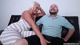 Cumblast-Busty blonde gets...