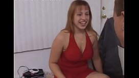 Cutie next door ends up hard screwed and made to swallow