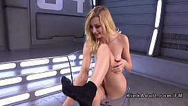 Blonde squirting on fucking...