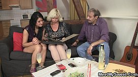 Sweetie gets lured into 3some by her BF'_s parents