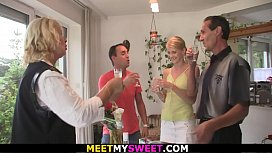 Blonde m.-in-law and dad fuck s.'_s girlfriend