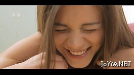 Teen hotty plays with...