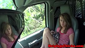 Stranded teen fucked and...
