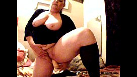 Dildo solo 49 years BBW housewife with big boobs