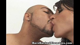 Awesome Shemales Bareback Threesome...