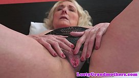Beautiful grandma banged in...