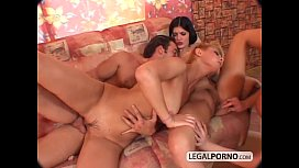 Triple stacked dirty babes fucked from behind TS-3-01