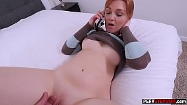 Horny stepson banged a...
