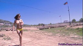 Cynthia Doll fucked in public by a huge cock