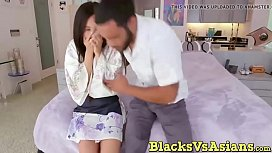 Cute asian teen with...