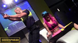 Cop stripper shows dick...