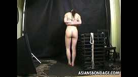 Bound Asian gets treated to a bdsm rope session sex videos