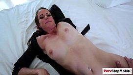 Stepmom Sofie sucks stepsons...