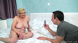 Fat hairy granny and...