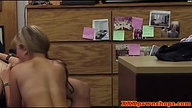 Desperate pawnshop amateur doggystyled and bj preview