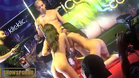 Threesome fuck on stage...
