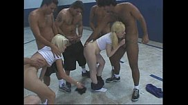 Gangbang in gym...