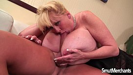 Giant boobed mature lady...