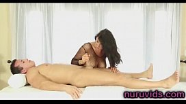 Romi Rain gives awesome massage