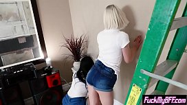 Slut teens paid with pussies for a stepbrothers work