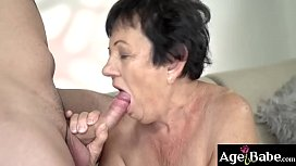 Hettie is a slutty grandma who needs to be feed with a big hard cock