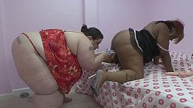 Fat girlfriends enjoy stuffing...
