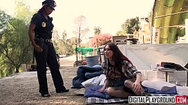Homeless chick gets fucked...