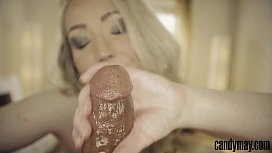 Candy May - Blonde sucking...