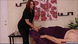 Masseuse Ties Down His...