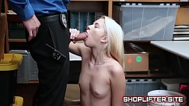Police Officer Banging Shoplyfter...