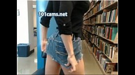 Library Cam Girl gets...